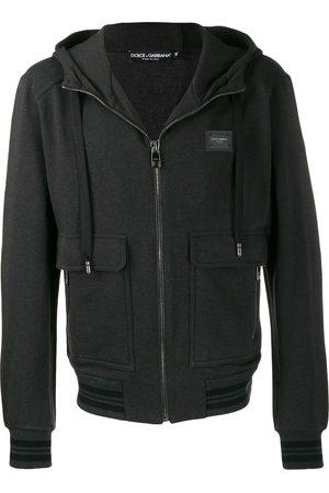 Dolce & Gabbana Logo patch hooded jacket - Grey