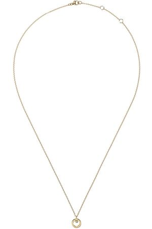 Georg Jensen 18kt Halo brilliant cut diamond pendant necklace