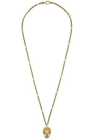 Gucci Men Necklaces - Crystal lion head necklace