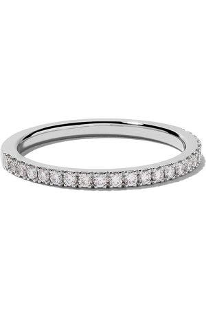 De Beers Jewellers Women Rings - Platinum DB Classic half pavé diamond band