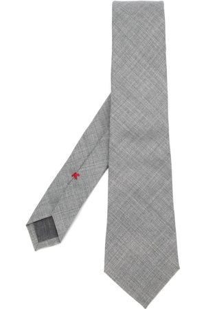 Brunello Cucinelli Textured tie - Grey