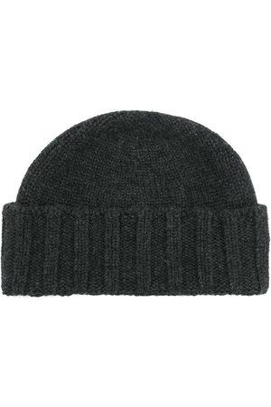 Drumohr Men Beanies - Cable knit beanie - Grey
