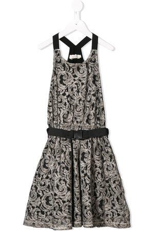 Le pandorine Belted lace dress - Grey