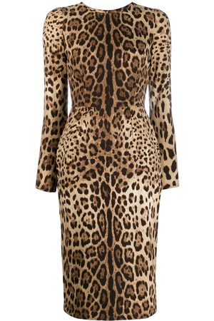 Dolce & Gabbana Leopard print bodycon dress - Neutrals