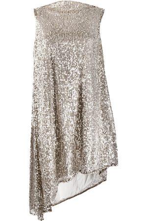 Halpern Women Asymmetrical Dresses - Sequined asymmetric dress