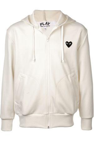 Comme des Garçons Heart logo hoodie - Neutrals