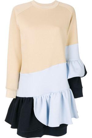 Ioana Ciolacu Colour-block frill dress - Neutrals