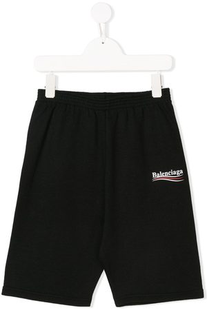 Balenciaga Boys Sports Shorts - Logo-print running shorts