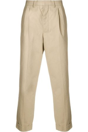 Ami Men Formal Pants - Pleated Carrot Fit Trousers - NEUTRALS