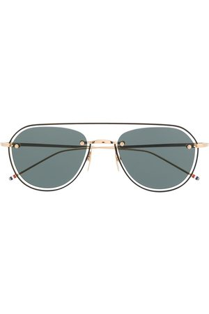 Thom Browne TB112 aviator-frame sunglasses