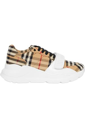 Burberry Vintage Check Cotton Sneakers - NEUTRALS