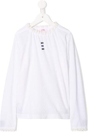 Familiar Lace trim T-shirt