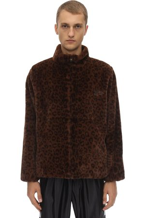 UFU - USED FUTURE Ff Leopard Print Faux Fur Jacket