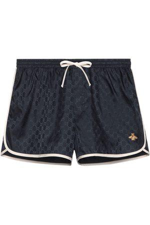 Gucci Men Swim Shorts - GG nylon swim short with bee