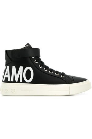 Salvatore Ferragamo Logo hi-top sneakers
