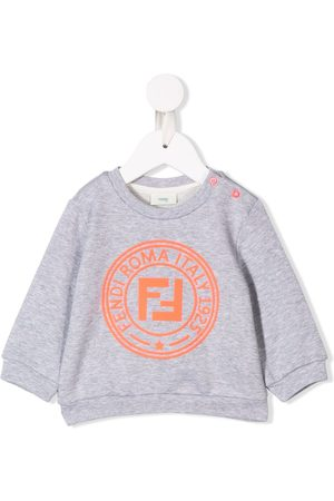Fendi Contrast logo sweatshirt - Grey