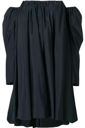 Calvin Klein Women Party Dresses - Ruched silk-blend bardot dress