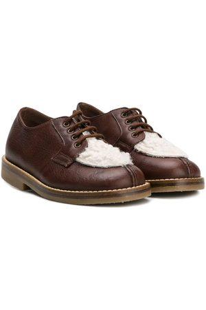 PèPè Boys Brogues - Contrast panel lace-up shoes