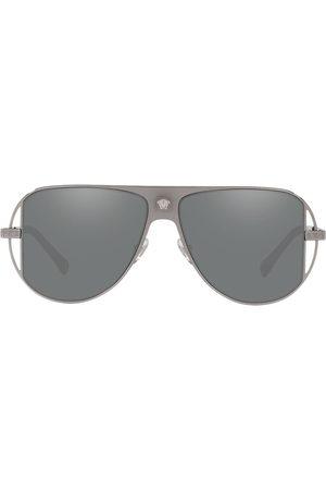 VERSACE Medusa head sunglasses - Metallic