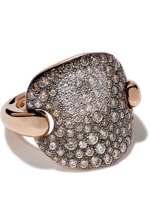 Pomellato Women Rings - 18kt rose gold Sabbia diamond ring - AB607BO7BR