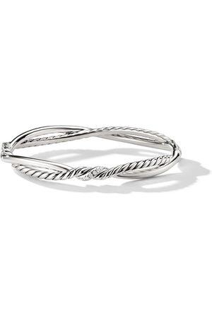 David Yurman Sterling silver Continuance Small Station diamond bracelet - SSADI