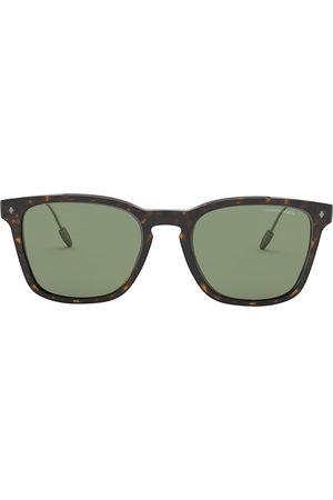 Armani Square-frame tinted sunglasses