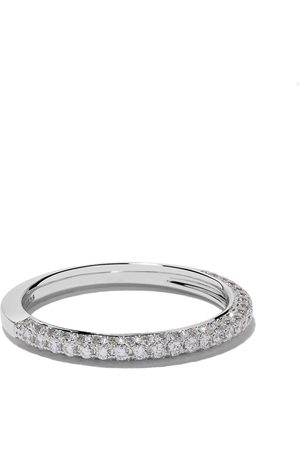 De Beers Jewellers 18kt DB Darling half pavé diamond band