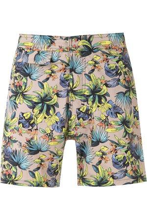 AMIR SLAMA Printed swimming shorts - Neutrals