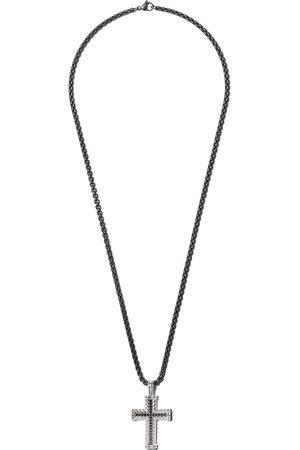 David Yurman Men Necklaces - Chevron Cross black diamond pendant - SSABD
