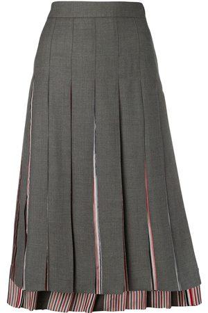 Thom Browne Step-hem pleated skirt - Grey