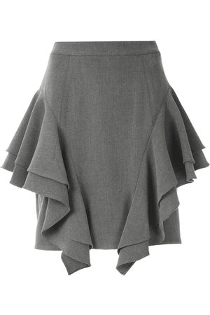 Olympiah Frill layered mini skirt - Grey