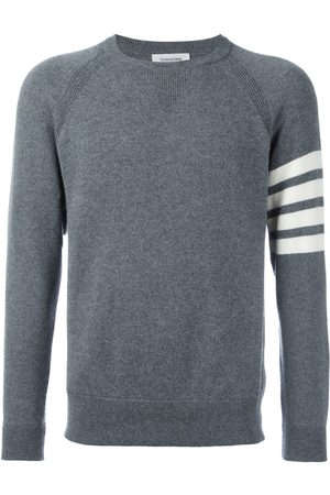 Thom Browne 4-Bar crew neck cashmere jumper - Grey