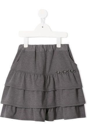 Familiar Tiered jersey skirt - Grey