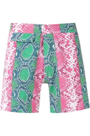 AMIR SLAMA Printed swimming shorts - Multicolour