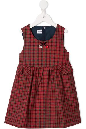 Familiar Girls Casual Dresses - Plaid print dress