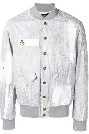 Mr & Mrs Italy Men Bomber Jackets - Button down bomber jacket - Grey