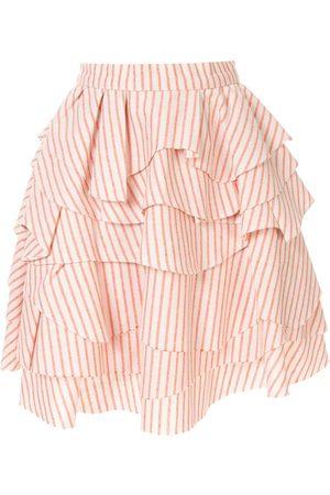 Bambah Struped ruffle skirt
