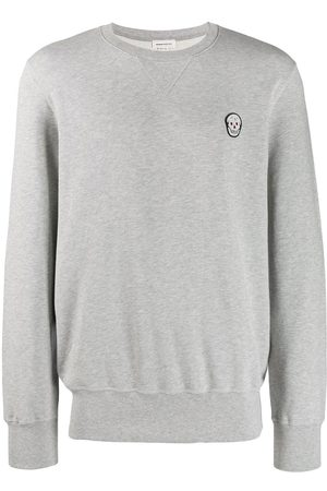 Alexander McQueen Men Sweatshirts - Skull patch sweatshirt - Grey