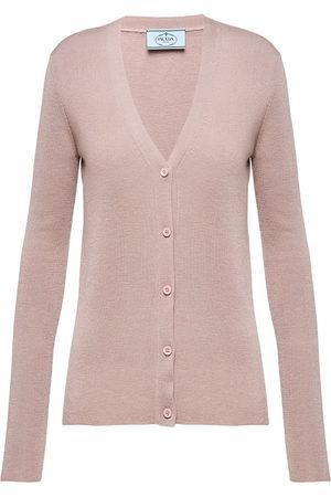 Prada Women Cardigans - Knitted cardigan - Neutrals