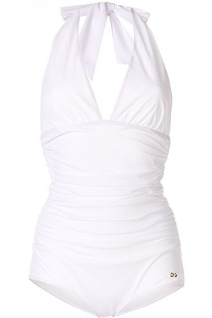 Dolce & Gabbana Deep v-neck halterneck swimsuit