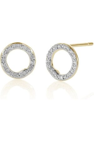 Monica Vinader Women Earrings - Riva Diamond Circle Stud earrings