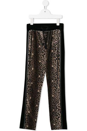 John Richmond Junior Girls Sweatpants - Leopard print joggers - NEUTRALS