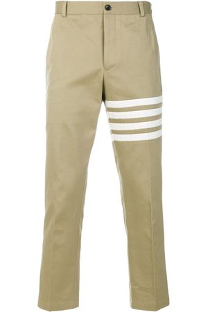 Thom Browne Seamed 4-Bar Stripe Unconstructed Chino Trouser In Cotton Twill - Neutrals