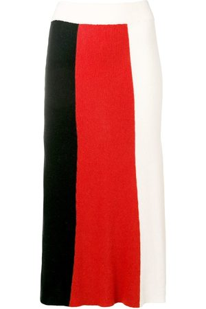 Cashmere In Love Colour block knitted skirt