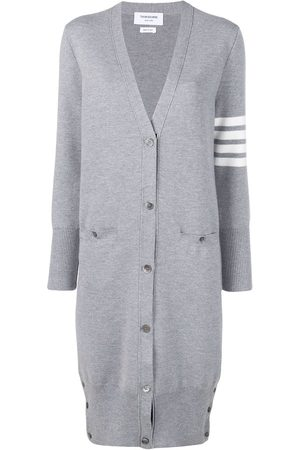Thom Browne 4-Bar stripe cardi coat - Grey