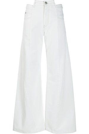 Maison Margiela Women Flares - Décortiqué wide-leg jeans