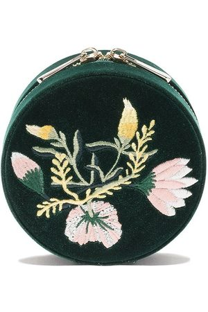 Wolf Women Jewelry - Floral round jewellery box - FOREST