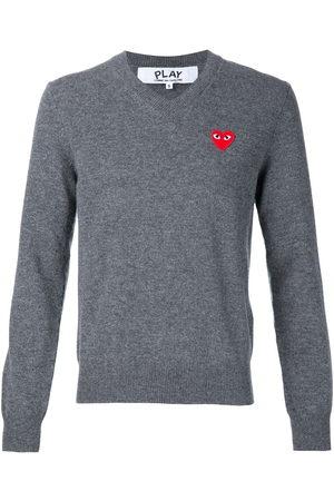 Comme des Garçons Embroidered heart jumper - Grey