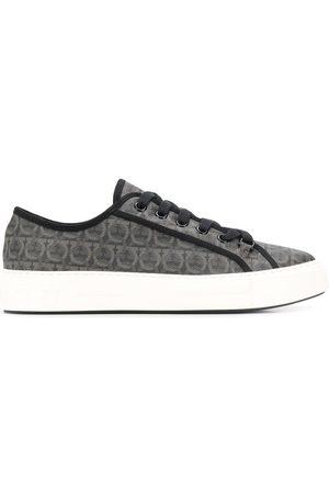 Salvatore Ferragamo Men Sneakers - Logo printed sneakers - Grey