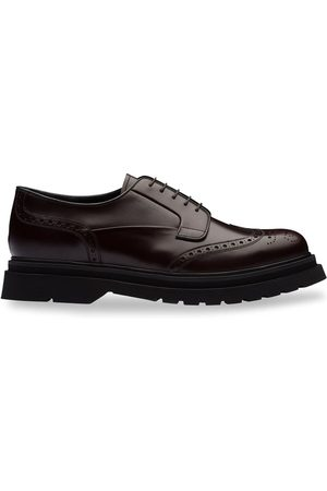 Prada Brushed leather lug-sole brogues
